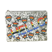 From St Xavier Hello Beaded Convertible Clutch
