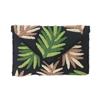 From St Xavier Hamilton Palm Beaded Clutch