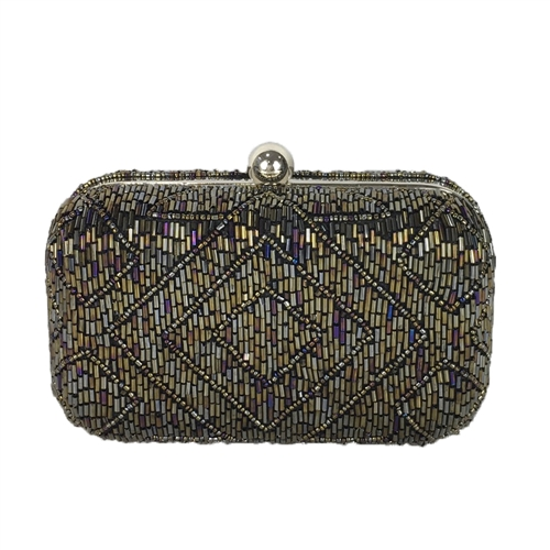 From St Xavier Hayley Art Deco Beaded Box Clutch
