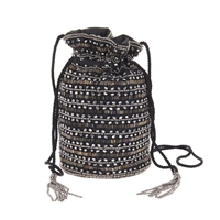 From St Xavier Knox Beaded Drawstring Pouchette