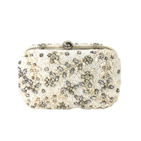From St Xavier Talon Crystal Beaded Box Bag Bridal Clutch