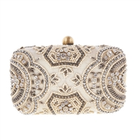 rom St Xavier Zoey Bridal Beaded Box Clutch