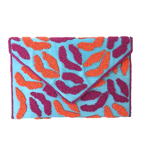 From St Xavier Smooch Kisses Beaded Convertible Clutch