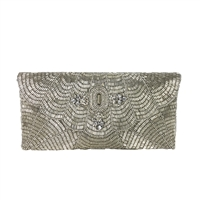 From St Xavier Estelle Beaded Evening Clutch,
