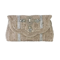 From St Xavier Jocelyn Beaded Evening Bag Bridal Clutch
