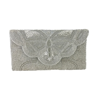 From St Xavier Barbara Beaded Clutch Evening Bag