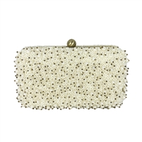 From St Xavier Cassie Pearl Beaded Box Clutch Bridal Bag