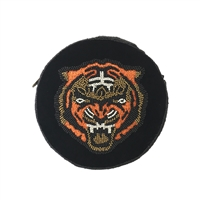 From St Xavier Roar Tiger Beaded Round Velvet Crossbody