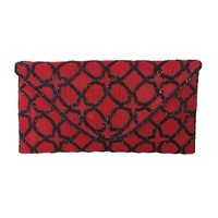 From St Xavier Eira Velvet Beaded Convertible Clutch