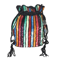 From St Xavier Kingston Colorful Sequin Drawstring Crossbody