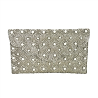 From St Xavier Agatha Beaded Fringe Evening Bag