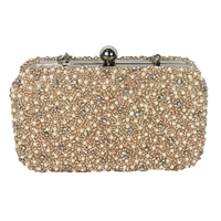 From St Xavier Mini Pearls Pearl Beaded Box Clutch Bridal Bag