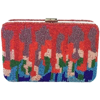 From St Xavier Drip Beaded Box Clutch Crossbody