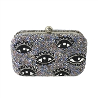 From St Xavier ICU Eyes Beaded Box Clutch