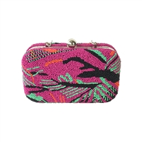 From St Xavier Catalina Beaded Box Clutch