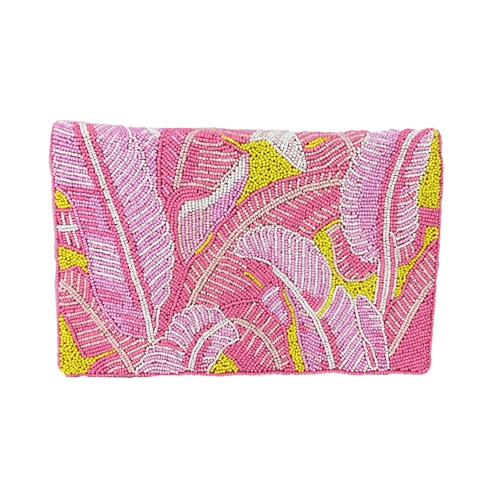From St Xavier Cordyline Beaded Convertible Clutch