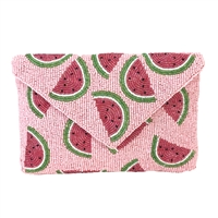 From St Xavier Juicy Watermelon Slice Clutch