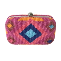 From St Xavier Dakota Beaded Box Clutch