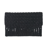 From St Xavier Mel Beaded Sequin Convertible Clutch
