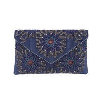 From St Xavier Chan Geo Burst Beaded Convertible Clutch