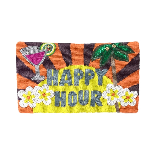 From St Xavier Happy Hour Beaded Clutch