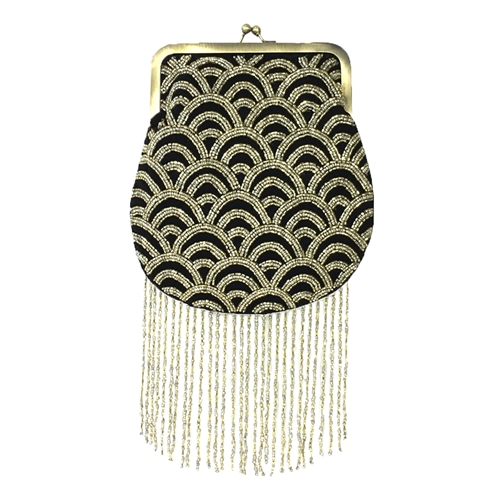 From St Xavier Sienna Kiss Lock Clutch Evening Bag
