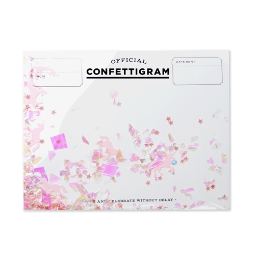 Inklings Official Confettigram Blank Greeting Card