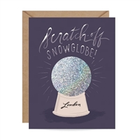 Inklings London Snow Globe Scratch Off Blank Holiday Greeting Card