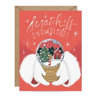 Inklings North Pole Snow Globe Scratch Off  Holiday Greeting Card