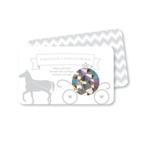 Prince Princess Baby Gender Reveal Scratch Off Cards