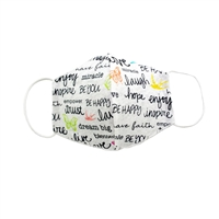 Inspirational Quotes Reusable Cotton 3D Face Covering