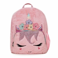 OMG! Accessories Miss Gwen Flower Crown Plush Backpac