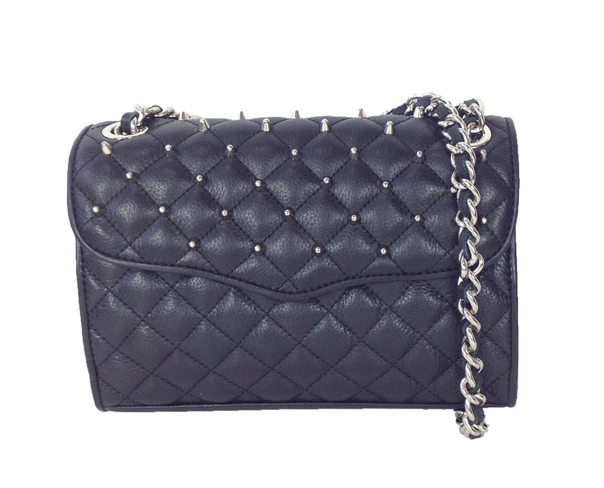 limited guantity in stock shoes for cheap Rebecca Minkoff Quilted Studded Mini Affair Shoulder Bag, Black