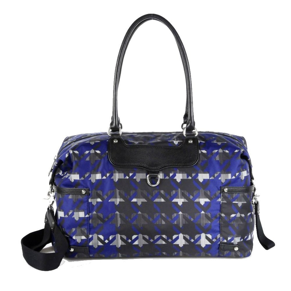 Rebecca Minkoff Kendra Baby Bag Royal Blue Print