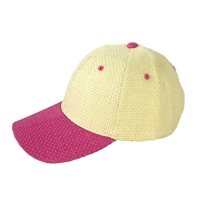 Magid Color Block Straw Baseball Cap