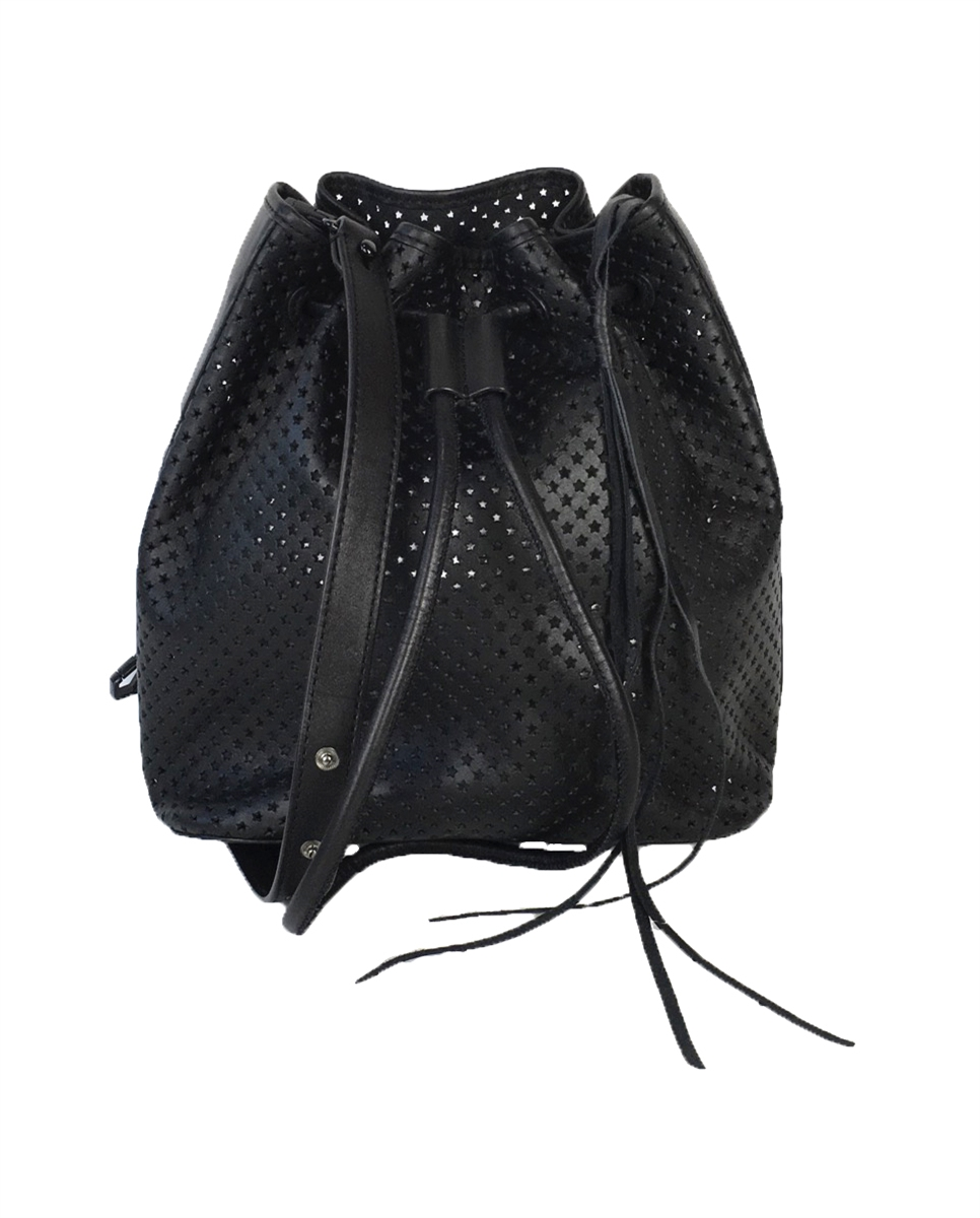 9bf502ebc04 Rebecca Minkoff Star Perforated Leather Bucket Bag