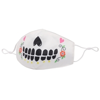 Sugar Skull Halloween Reusable Face Covering