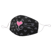 OMG! Bella Kitty Halloween Reusable Face Covering with Interior Pocket
