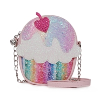 OMG! Accessories Glitter Cupcake Crossbody