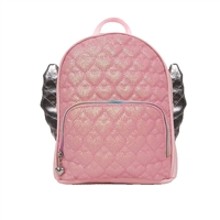 OMG! Accessories Glitter Hearts Winged Mini Backpack