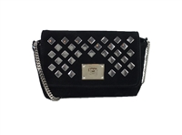Jimmy Choo Ruby Studded Suede Mini Crossbody Bag