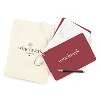 Wine Lover's Journal Cards O-Ring Fill In Tasting Notes, Wine Varietals & Tasting Tips