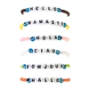 Hello Namaste Greetings Beaded Stretch Bracelets Set of 6