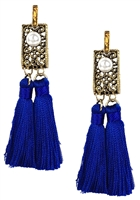 Jewelry Collection Double Tassel Drop Earrings