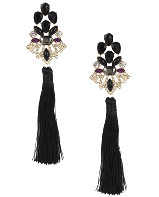 Jewelry Collection 'Drama' Extra Long Tassel Drop Earrings