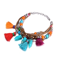 Jewelry Collection Beaded Tassel Multi Layer Bracelet