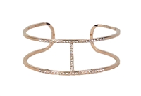 Jewelry Collection Pave H Cuff Open Bangle Bracelet