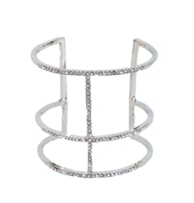 Jewelry Collection Micro Pave Open Cuff Bangle