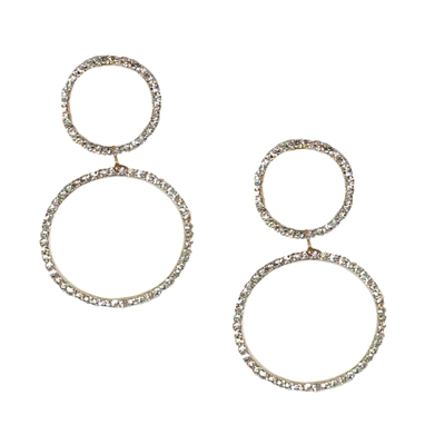Jewelry Collection Pave Double Circle Ear Jackets