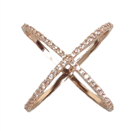 Jewelry Collection Pave Circle X Ring